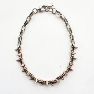 Joomi Lim Doube Row Spike Choker Necklace Rose GOL